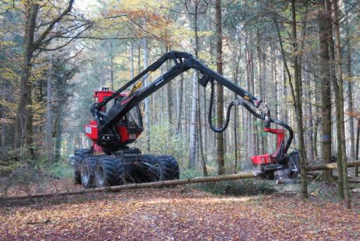 Holzerei mit dem Harvester